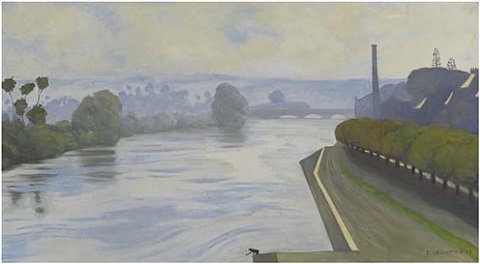 la seine a mantes by félix edouard vallotton