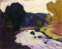 paysage au torrent by francis picabia