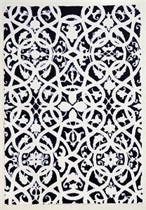 indigo moorish pattern by teresa cole