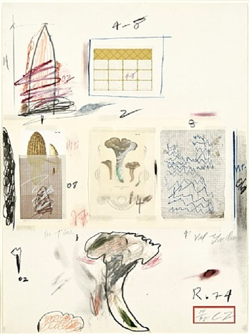 natural history, part i: mushrooms, no. vi by cy twombly