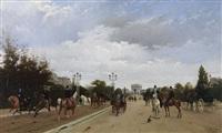 avenue foch (a venue du bois) by edmond georges grandjean