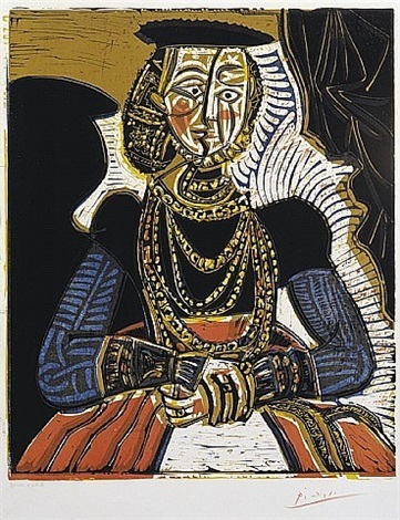 portrait of a woman, after cranach the younger by pablo picasso