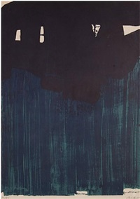 lithograph number 23 by pierre soulages