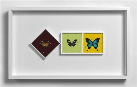hope and love and peace (+ peace and hope and love; 2 triptychs) by damien hirst