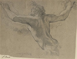 study for a satyr by michel dorigny