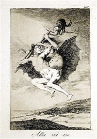 alla va eso (there it goes) by francisco de goya