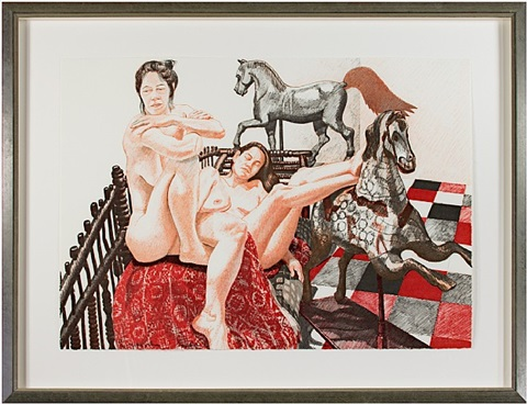 models & horses by philip pearlstein