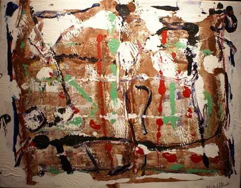 abstraction (sold) by jean paul riopelle