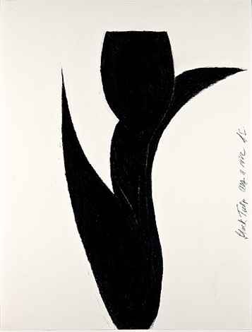 black tulip by donald sultan