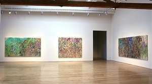 installation photograph, danese by larry poons
