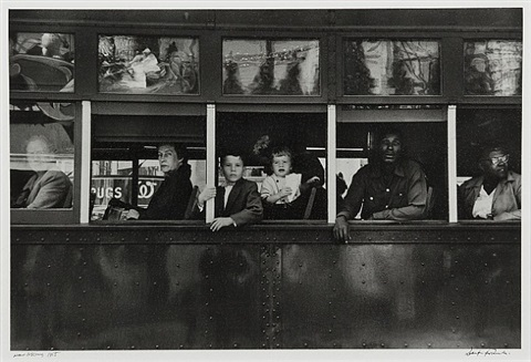 trolley, new orleans, by robert frank