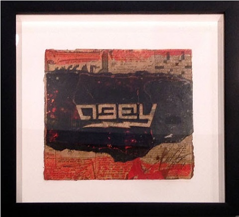 obey lightning (retired stencil) by shepard fairey
