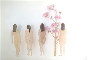 four beauties by liu fan