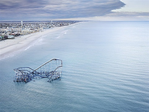 hurricane sandy, seaside heights, nj, 2012 by stephen wilkes
