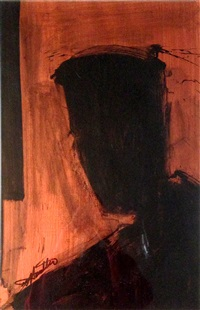 untitled (head shadow) by richard hambleton