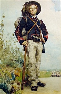 soldier (militia man) by henry f. farny