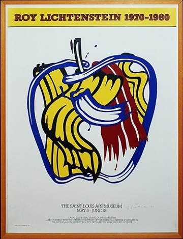 apple poster, saint louis art museum by roy lichtenstein