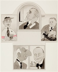 heroes of the week, october 24, the new yorker by ralph barton