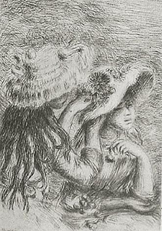 le chapeau epingle by pierre-auguste renoir