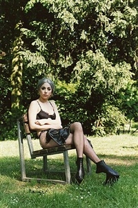 gaga sitting in a park by wolfgang tillmans