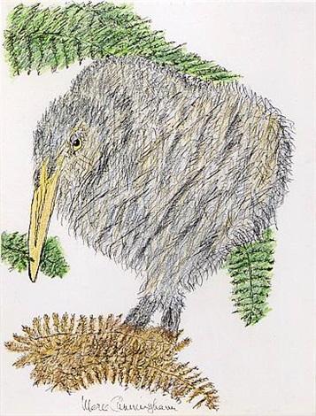 untitled (grey bird) by merce cunningham