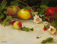 apples & wild roses by kathy anderson