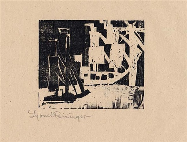 ships and sun 4 by lyonel feininger