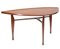 rare yngve ekstrom leaf table by yngve ekstrom