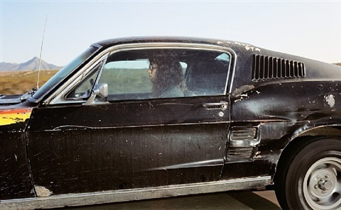 man heading west at 78 mph on interstate 10 near palm springs, california, sometime during an evening in 1990 by andrew bush