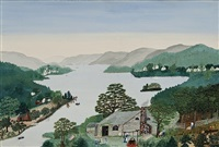 on the banks of the hudson river by grandma moses
