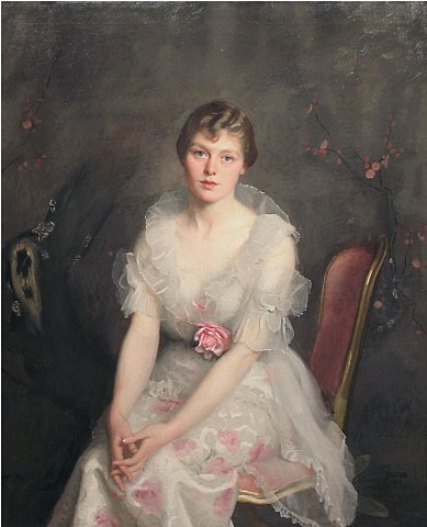 portrait of louise converse (mrs. junius s. morgan), by william mcgregor paxton
