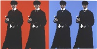 double double red and blue yentl (my elvis) by deborah kass