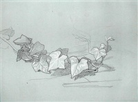 study for branch of ivy (for damocles) by thomas couture