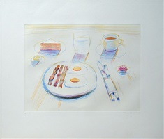 breakfast by wayne thiebaud