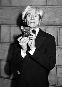 andy warhol at the cfda awards dinner honoring james galanos at the new york public library, new york by ron galella