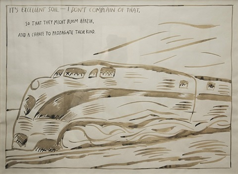 "untitled (""it's excellent soil..."") by raymond pettibon"
