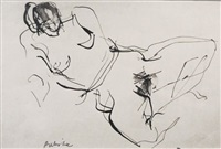 reclining nude i by anthony whishaw