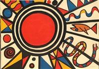 evolution revolution<br>red sun by alexander calder
