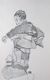 boy from zeichnungen by egon schiele