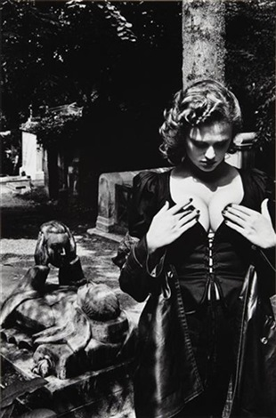 pere lachaise, tomb of talma, paris by helmut newton