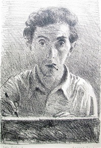 self portrait (with cigarette) by raphael soyer