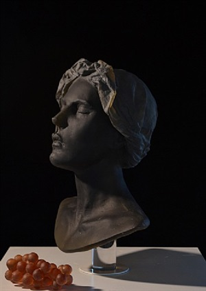 untitled (bust with grapes) by nicolas africano