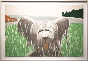 dog at ducktrap by alex katz