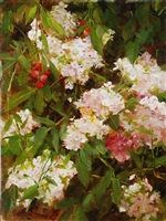 phlox and crabapples by kathy anderson