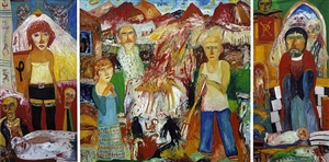 homage to garfagnana by john bellany