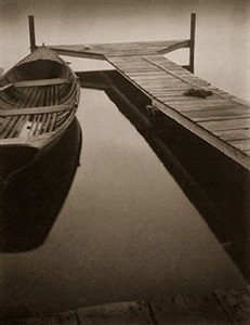 untitled (boat at the dock) by margaret watkins
