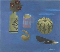 pink and blue mug by mary fedden