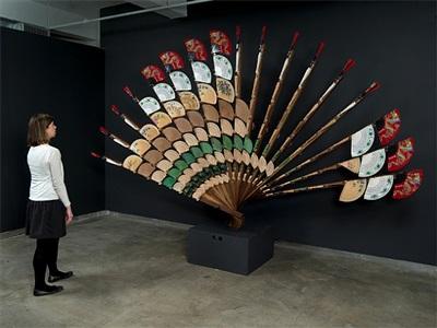 fan mirror by daniel rozin