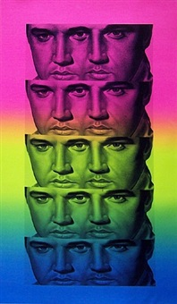rainbow elvis by ron english