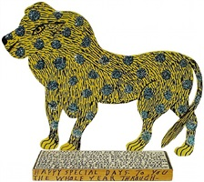 lion by howard finster